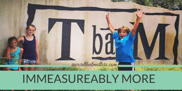 Immeasureably more