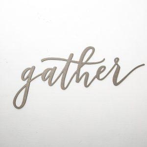 "Magnolia Market ""Gather"" metal sign"