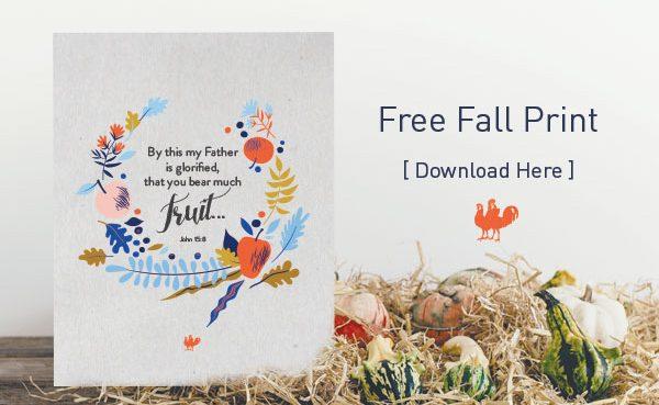 John 15:8 Free Fall Printable